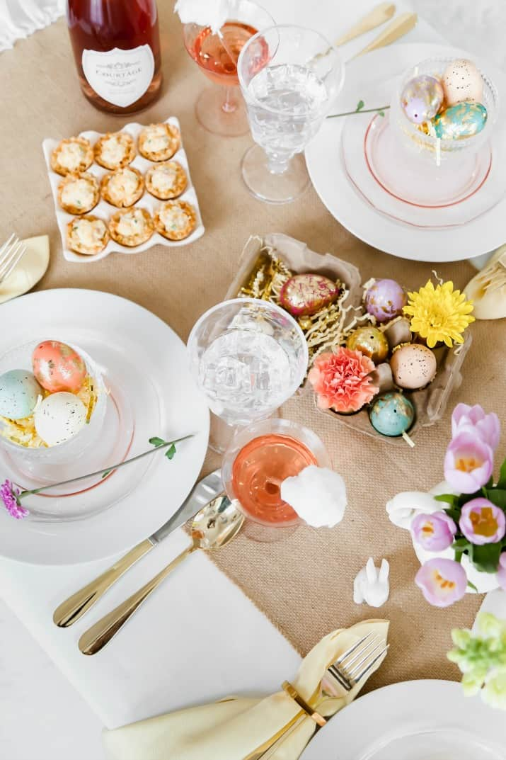 simple Easter brunch tablescape