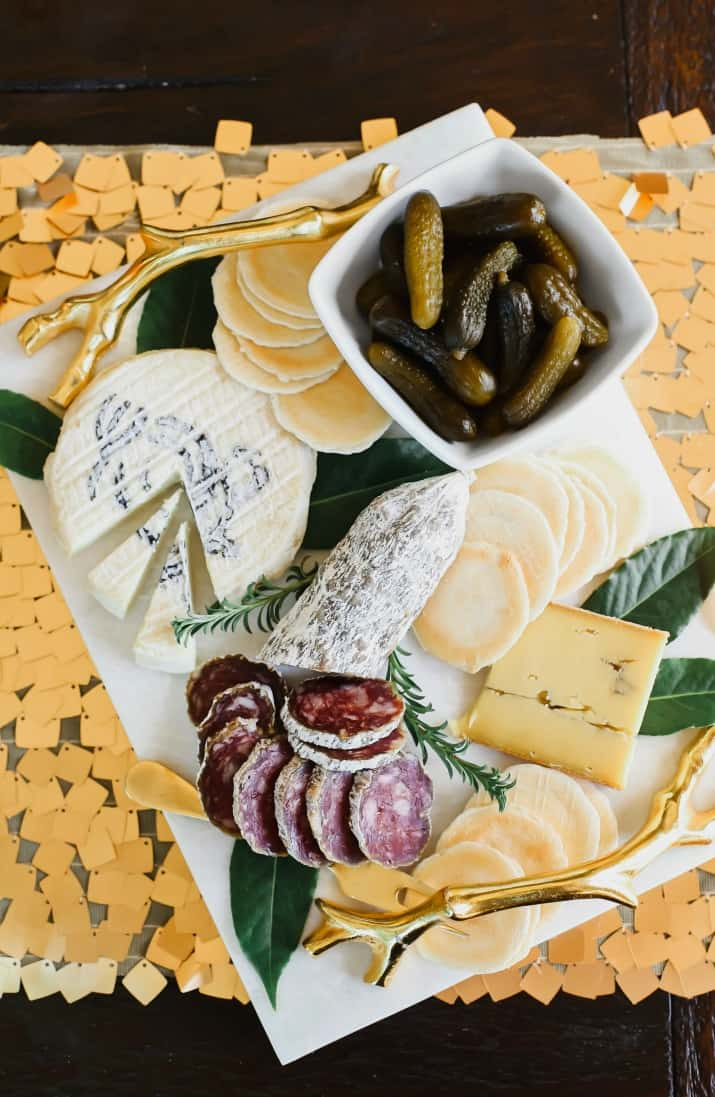 St. Patricks day cheese board