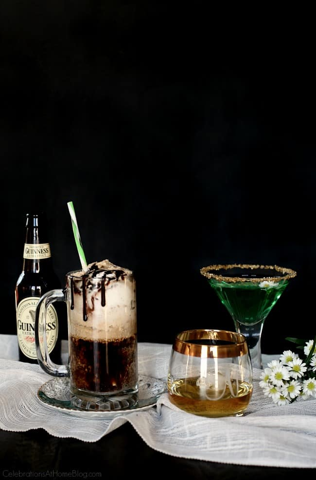 Irish themed dinner party or St Patricks day party with inspiration and recipes, found here. St Patricks day cocktails