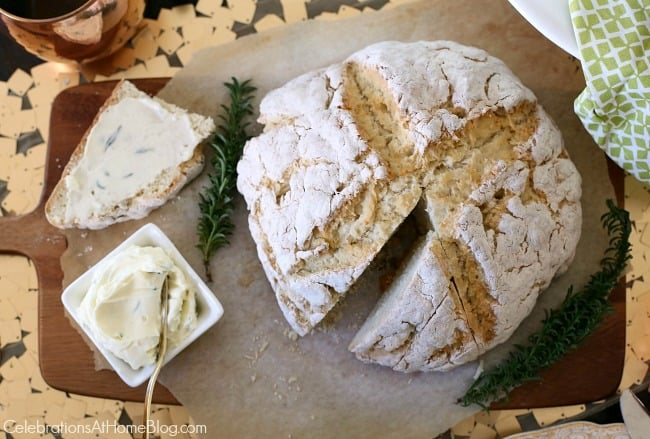Irish themed dinner party or St Patricks day party with inspiration and recipes, found here. Irish soda bread recipe