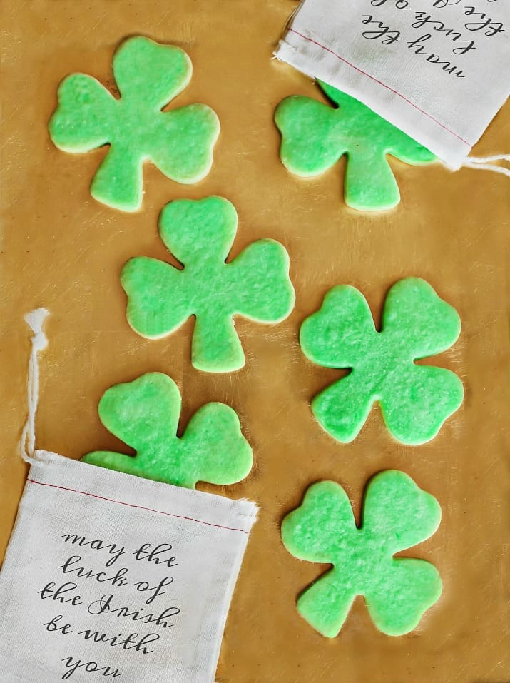 St. Patrick's day party favors, shamrock cookies