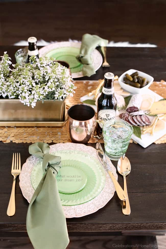 Irish Themed Dinner Party For St Patrick S Day