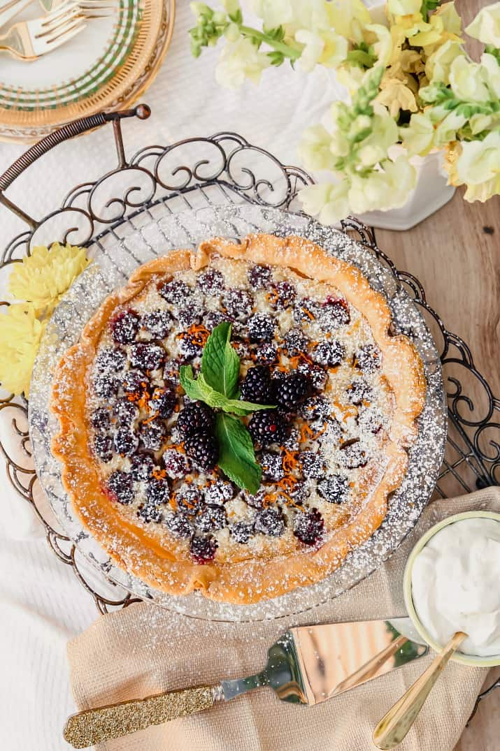 blackberry custard pie dessert recipe
