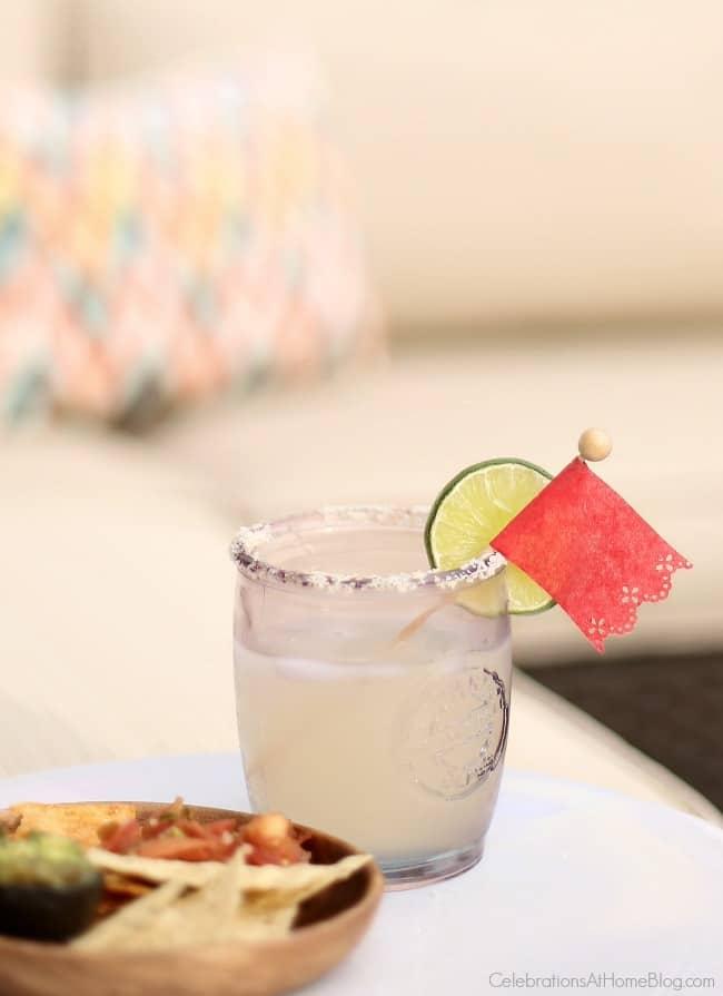 Make these diy papel picado drink stirrers for Cinco de Mayo.