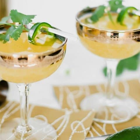 mezcal prosecco cocktail recipe card