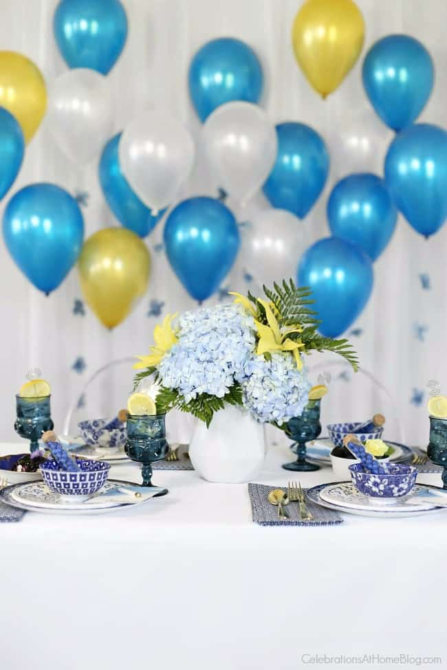 Host a 'something blue' bridal brunch for a bridal shower idea. Get lots of inspiration for decor, menu, and recipes here.