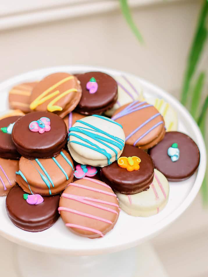 decorated spring cookies