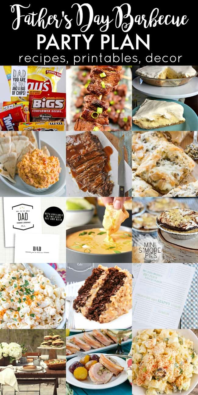 Prepare the best fathers day barbecue with these recipes, printables, and decor ideas.
