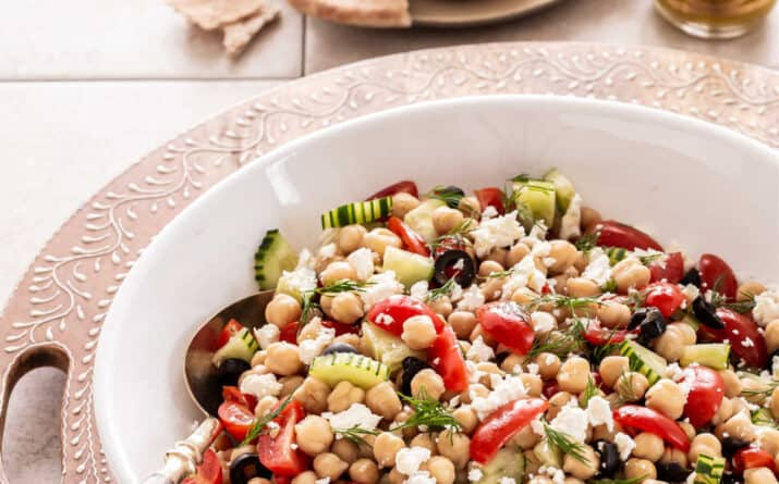 Easy Mediterranean Chickpea Salad Recipe