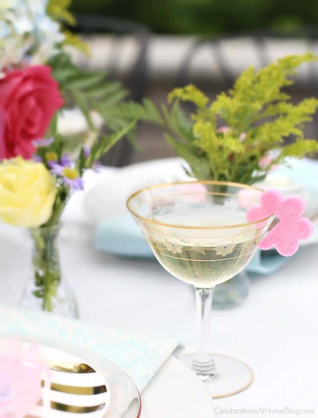 Serve sparkling wine with sugar shapes for your next ladies luncheon, bridal shower, or mothers day.