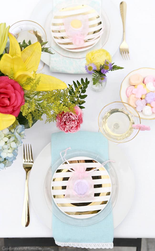 Host a ladies luncheon for mothers day and set a beautiful spring tablescape! Ideas and inspiration from Chris Nease of CelebrationsAtHomeBlog.com