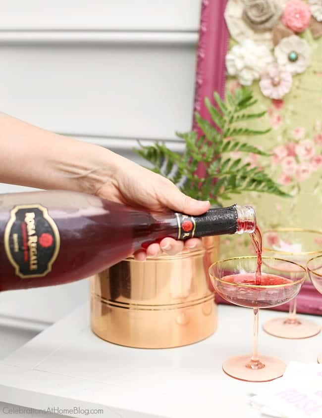 Serve a sweet sparkling red wine for dessert after your ladies luncheon.