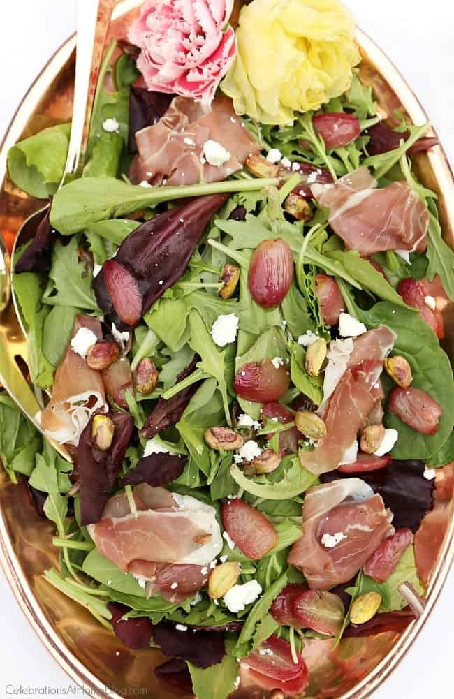 You'll love the combination of sweet and salty in this gourmet-style roasted grape salad. Great for ladies luncheon parties.