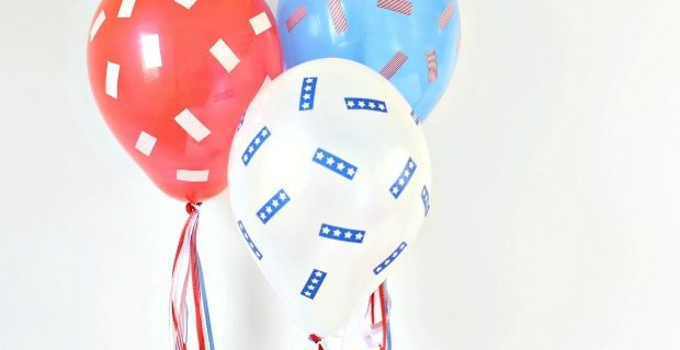 Red, White & Blue Balloons DIY