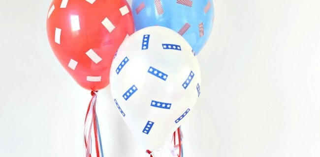 Make these Red, White & Blue Balloons Part of Your 4th of July Celebration