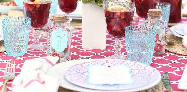 Summer Dinner Party Tablescape with Cricut