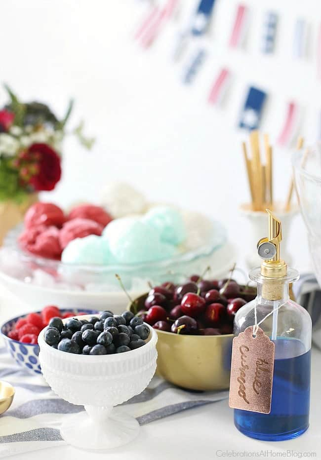 Red, White & Blue Ice Cream Floats are just what you need to celebrate the 4th of July. Add some libations for a grown up kick.