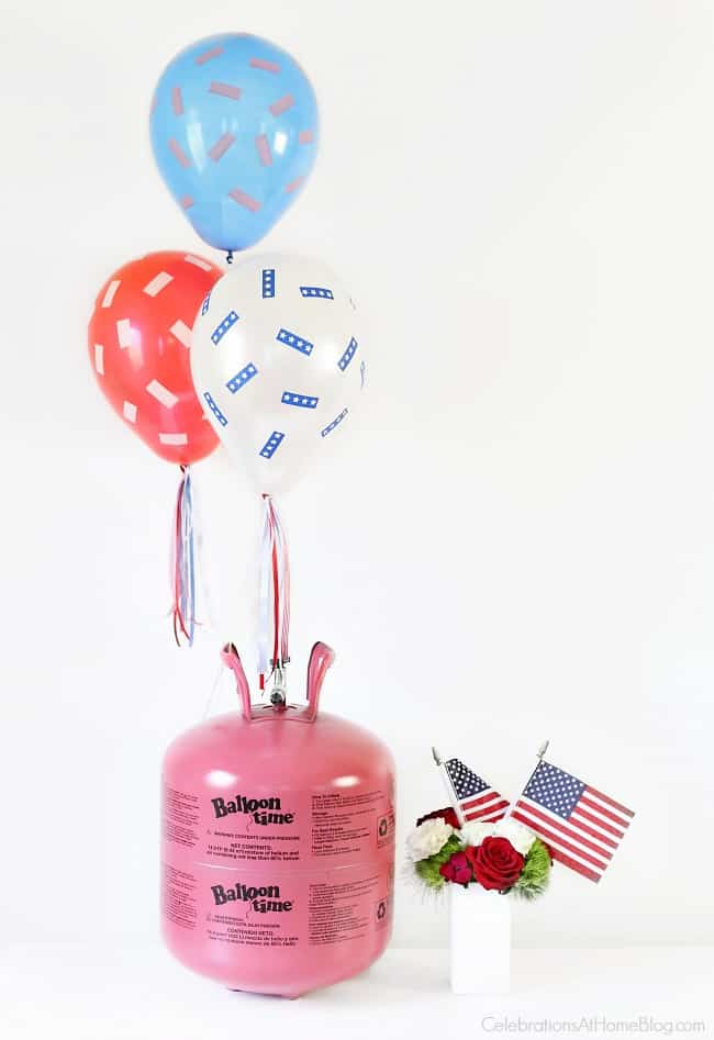 This Red, White & Blue Balloons DIY will make your 4th of July more festive!