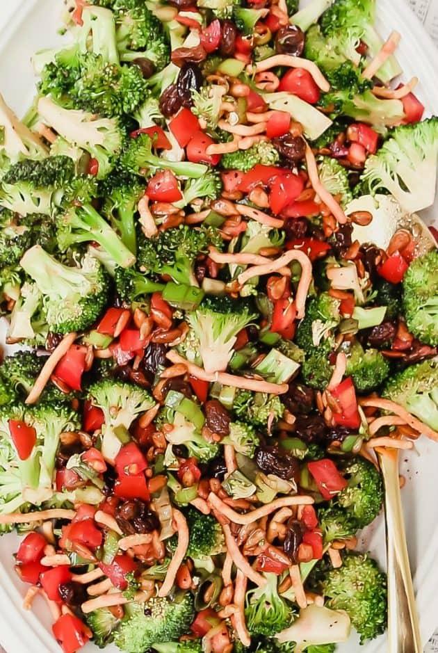 tomato & broccoli salad for entertaining