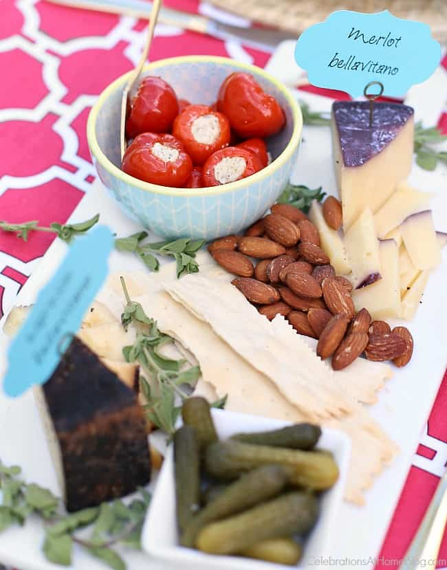 A simple cheese plate is always the best party appetizer.