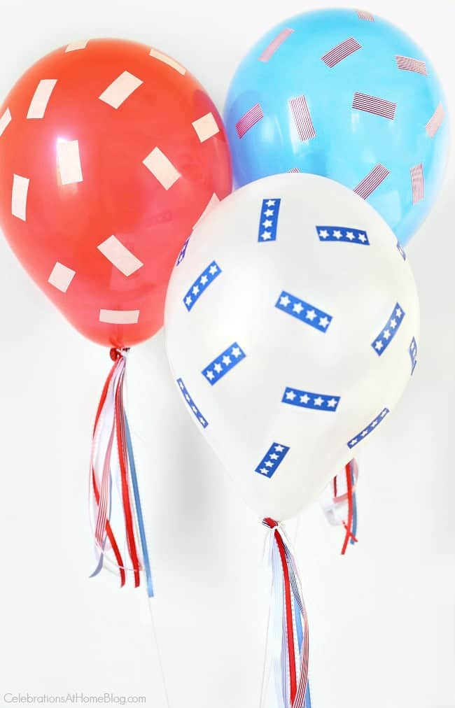This Red, White & Blue Balloons DIY project makes 4th of July more festive! Celebrate Independence Day with these decorating ideas.