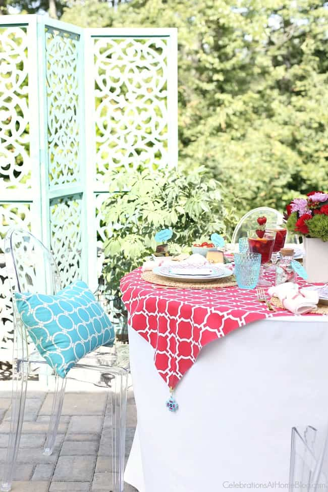 Host a summer dinner party with these ideas for decor, food, and diy projects from Chris Nease of CelebrationsAtHomeBlog.com