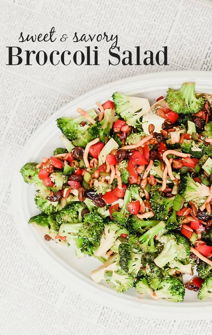 Pin this broccoli salad for entertaining