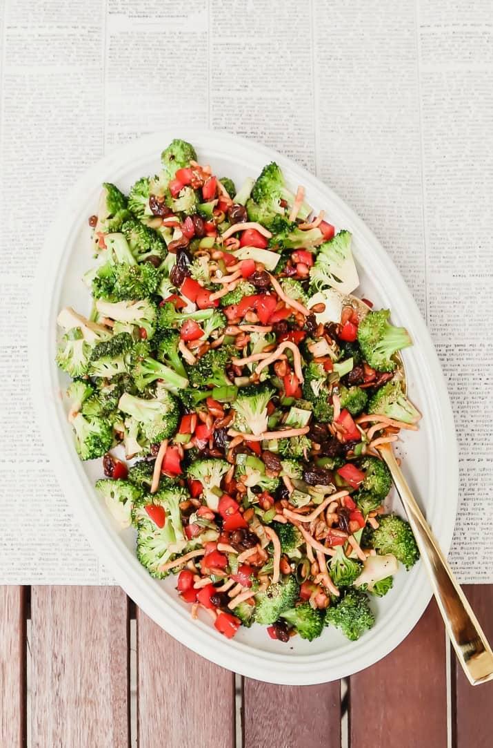sweet & savory broccoli salad