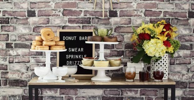 Donut Bar with Toppings Galore!