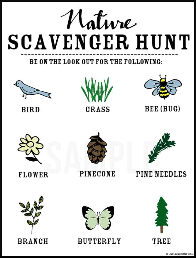 this free printable scavenger hunt game is a great way to entertain kids at your summer backyard party.