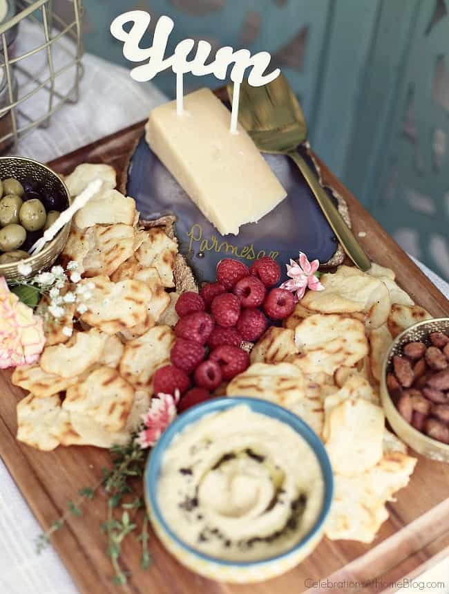 Host a Summer Cocktail Party with a fabulous cheese board.