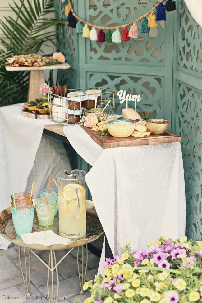 Host a Summer Cocktail Party with Casual BBQ Style for twist on summer entertaining. I'm showing you how to turn convenient grocery items into stylish party food for a fun backyard soiree.