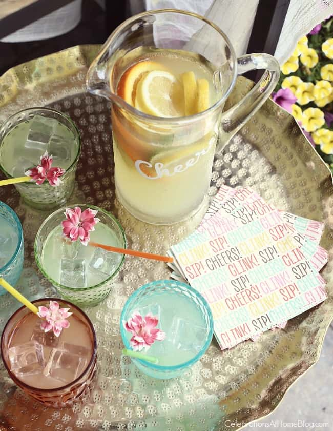 Host a Summer Cocktail Party with pitcher drinks!