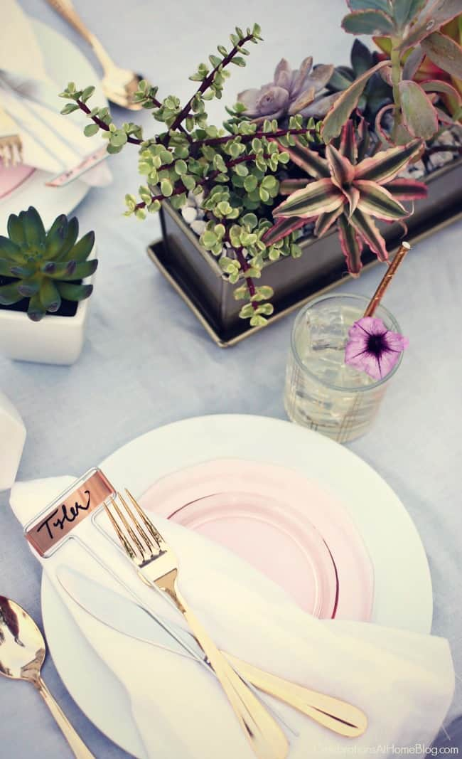 Host a sunset supper party on the patio with inspiration, ideas, dinner menu, and recipes from Chris Nease of celebrationsathomeblog.,com