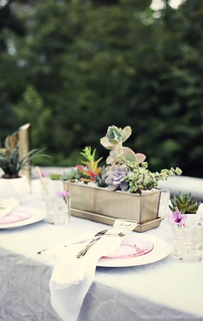 Host a sunset supper party on the patio with inspiration, ideas, dinner menu, and recipes found here.