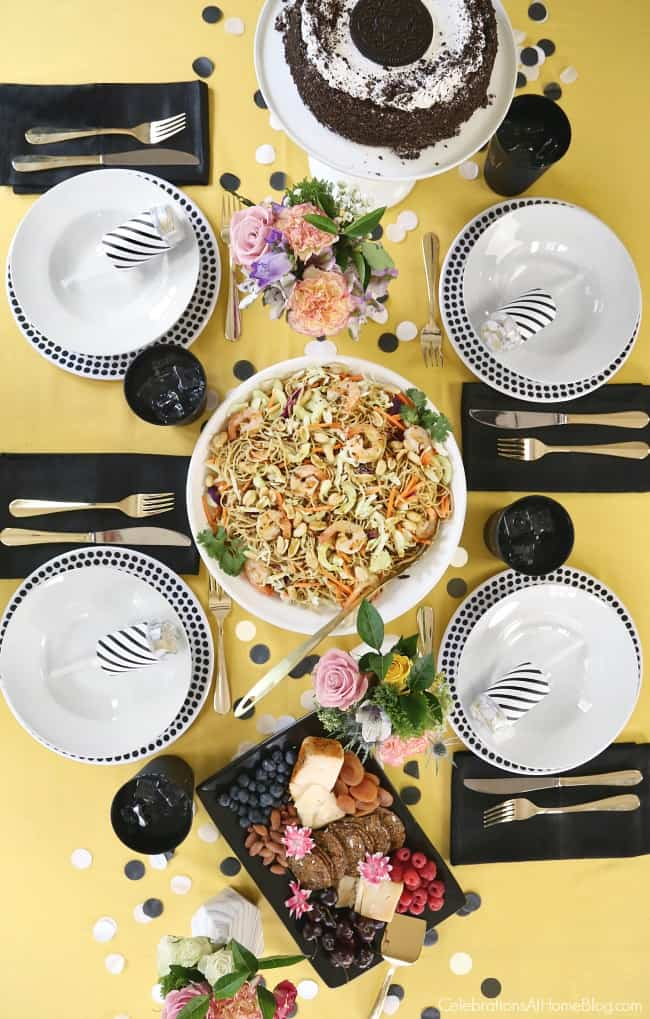 Enjoy a Simple Celebration at Home with a light luncheon, easy tablescape, and delicious dessert! It's time to invite those pals over, and celebrate birthdays, job promotions, or life achievements.