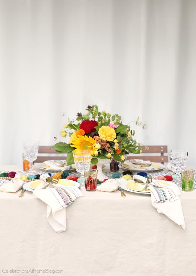 summer tablescape; Party with Iced Tea Bar