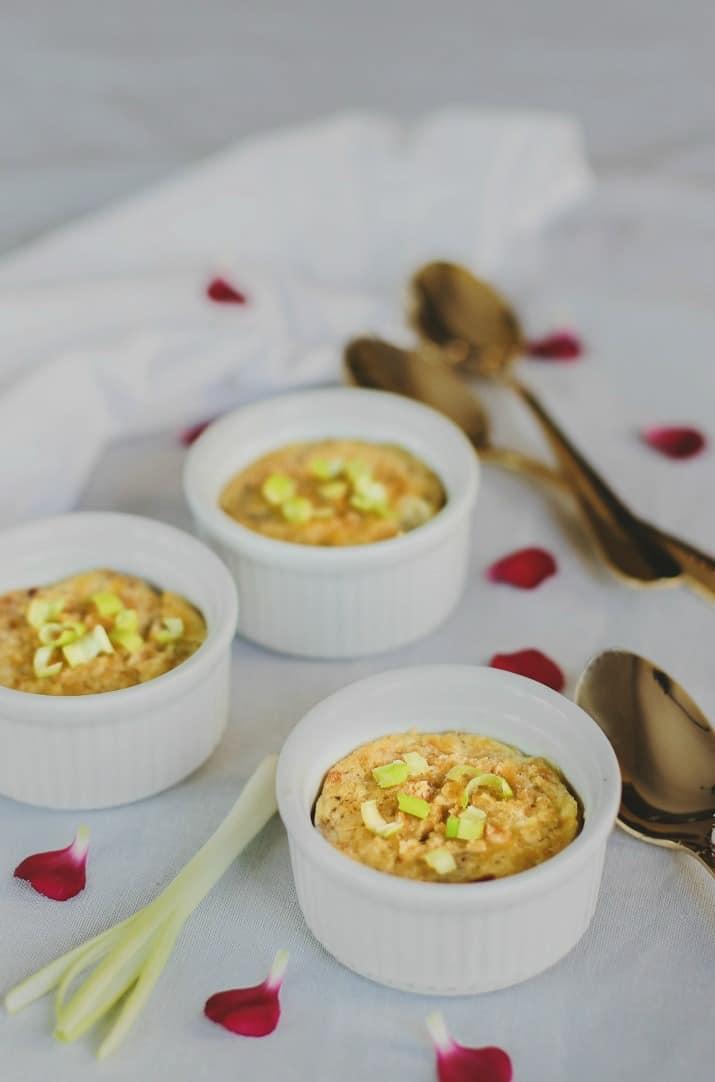 mini quiche recipe crustless, in ramekins