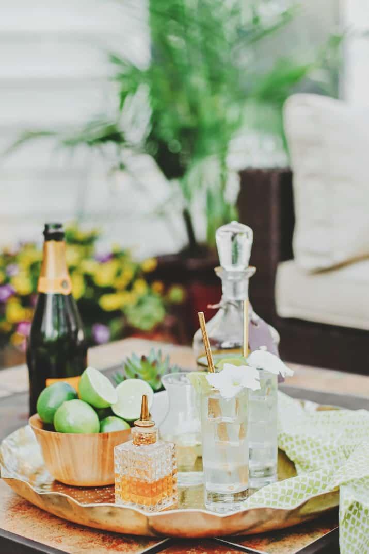 mojito cocktail with Prosecco