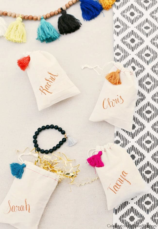 Party with Iced Tea Bar; diy party favors