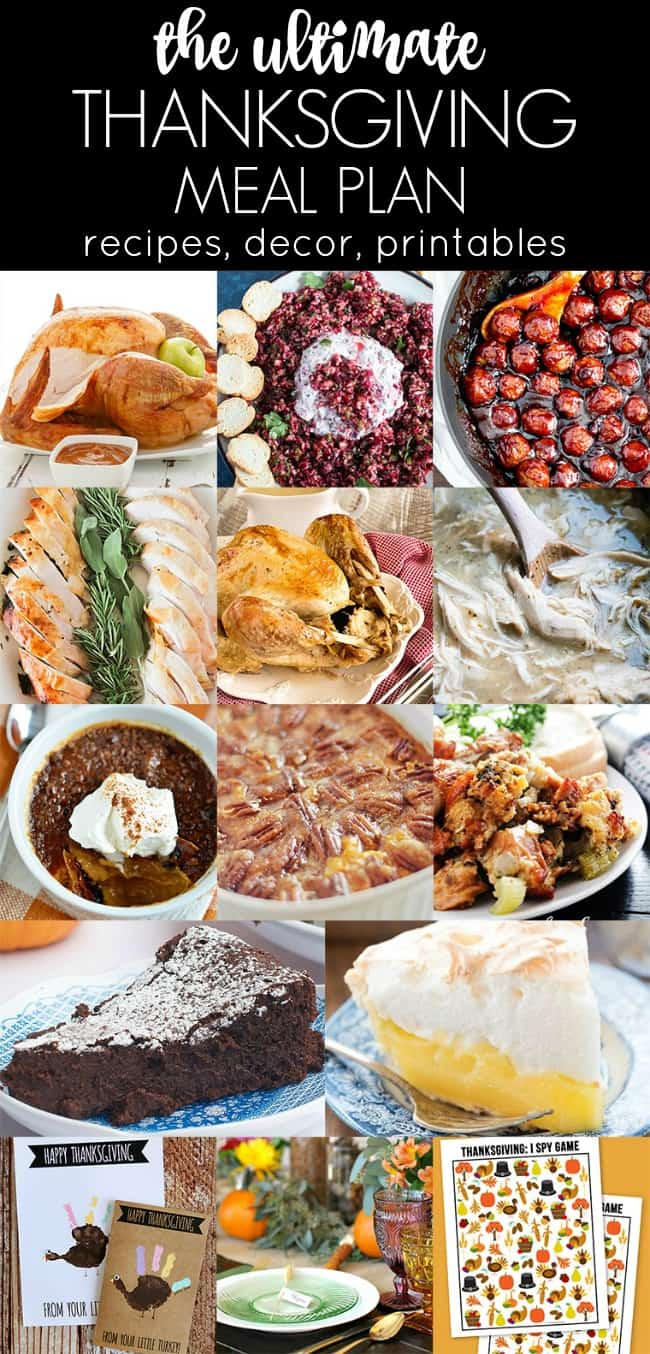 Here's a Thanksgiving Meal & Party Plan with plenty of recipes, tablescapes, printables, and more ideas to get you motivated.