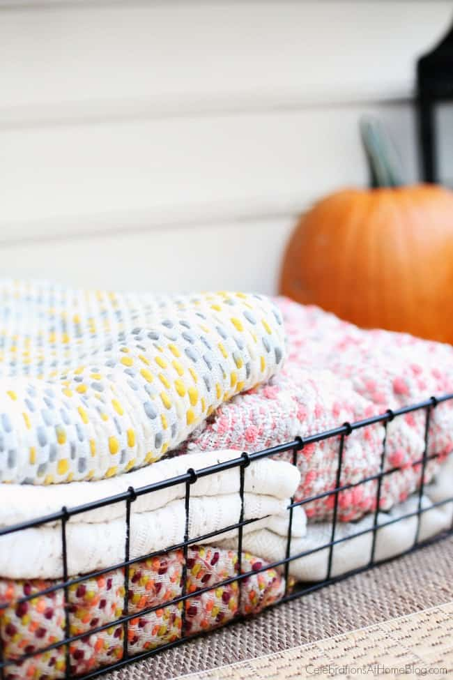 Bring a stack of throw blankets outside this fall, and enjoy patio entertaining.