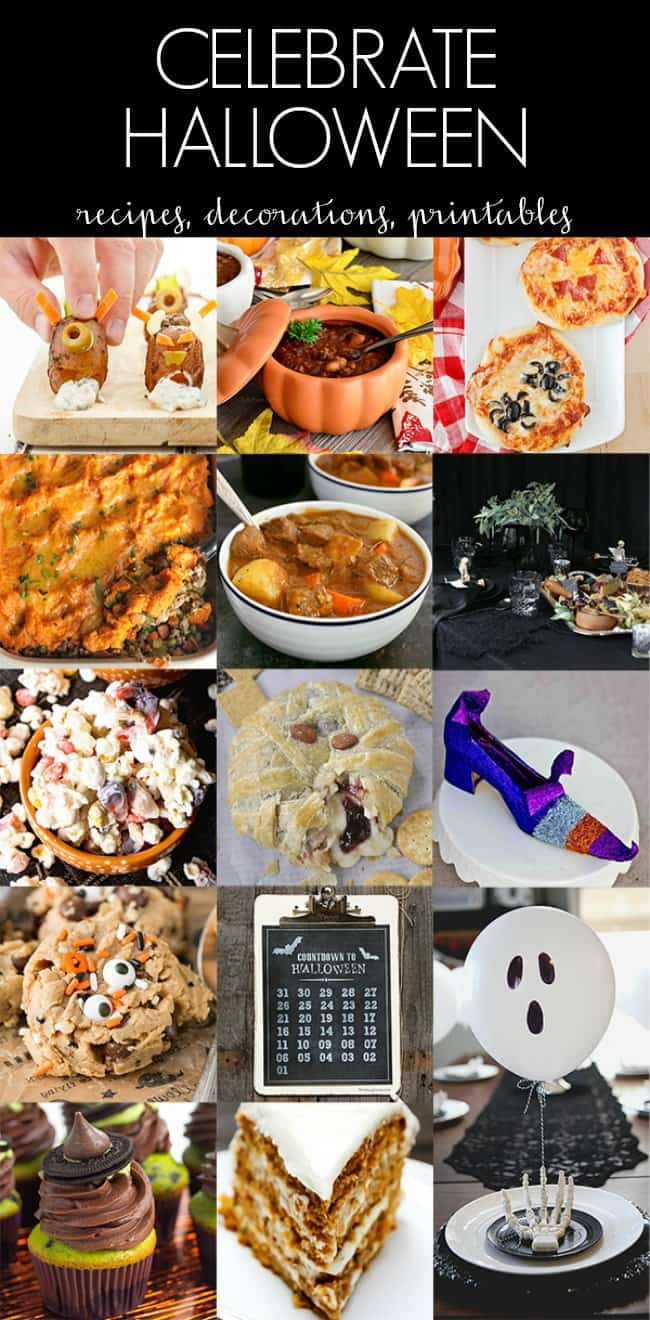 Celebrate Halloween with these recipes, decorations, and printables. Your Halloween meal plan.