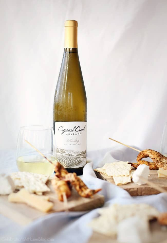 Make these Jerk Seasoned Chicken Skewers for entertaining at home. Serve with my herb dipping sauce and a bottle of Crystal Creek Riesling.