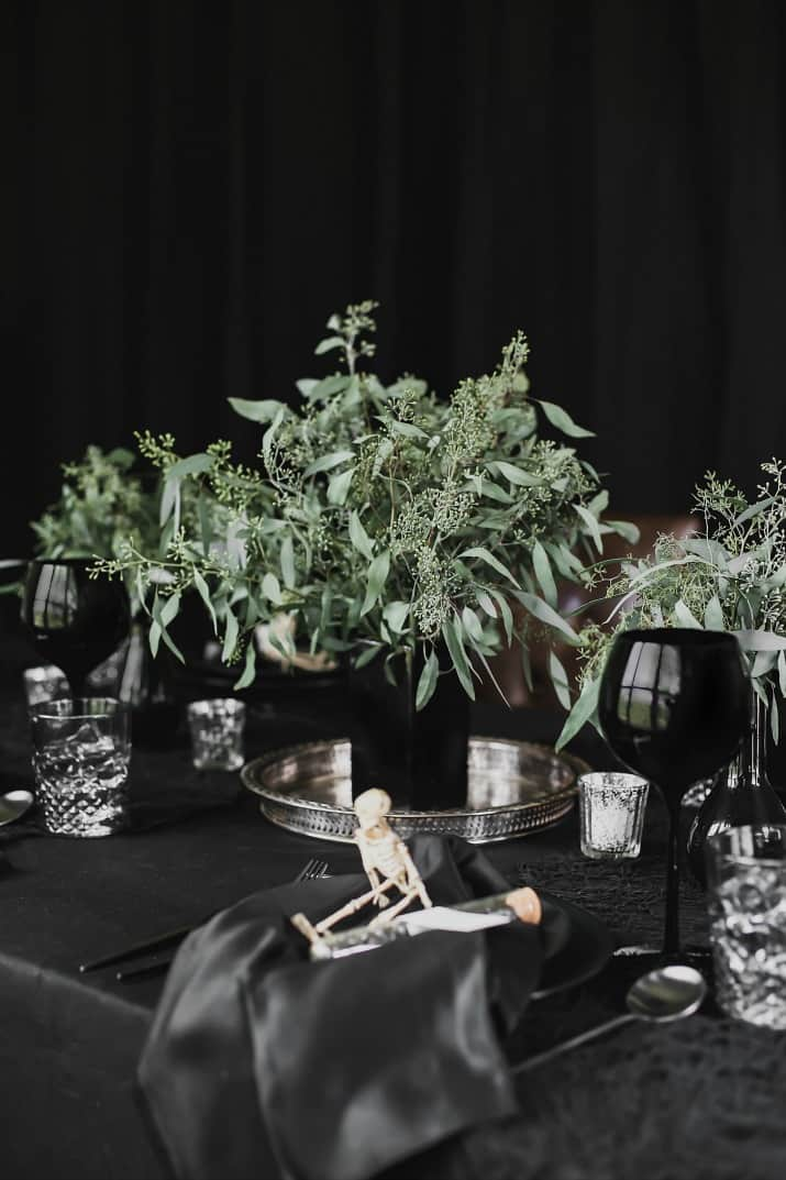 Sophisticated Halloween dinner party