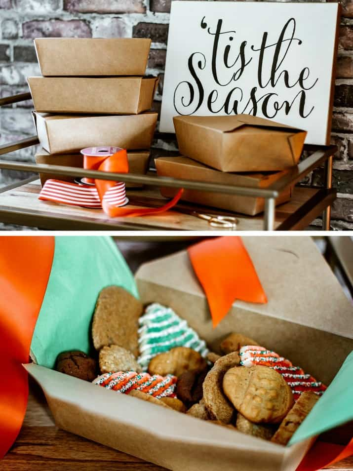 cookie boxes for cookie swap party