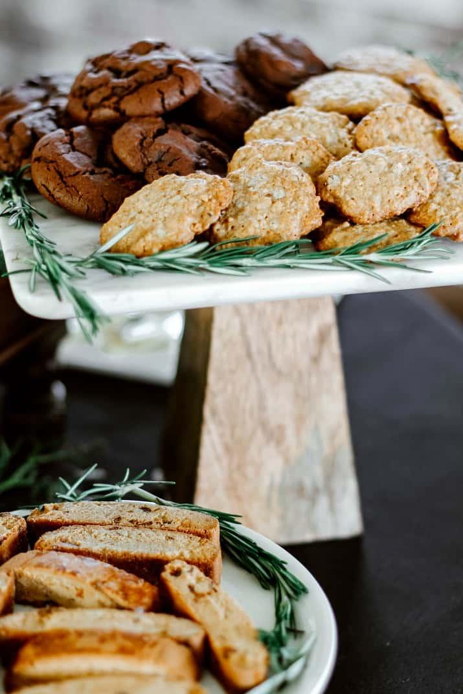 cookies on platters