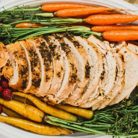 easy slow cooker turkey breast recipe card