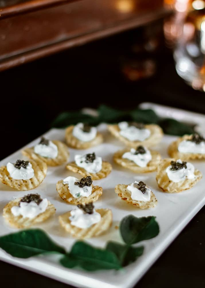 potato chip caviar appetizers