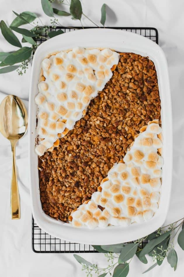 streusel topped sweet potato casserole